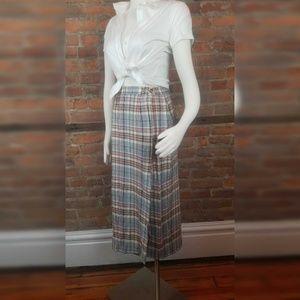 VTG Talbots Women's Wrap Skirt Midi Plaid